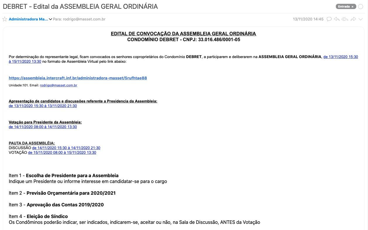 E-Mail do Edital